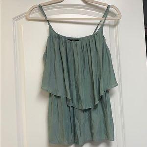 Sage green camisole flowy top